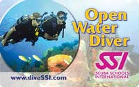 Carte de certification OPEN WATER DIVER