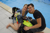 Avant formation bapteme initiation cours de plongée Bruxelles NEMO33