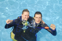Reussite formation bapteme initiation cours de plongée Bruxelles NEMO33