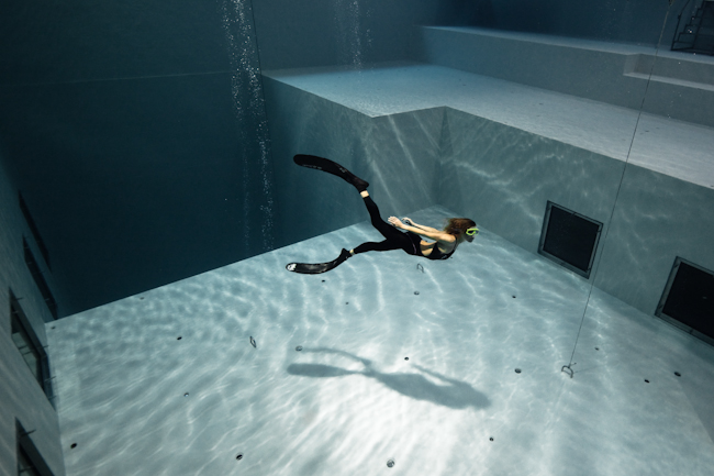 Apnée à NEMO33, photo Fred Buyle