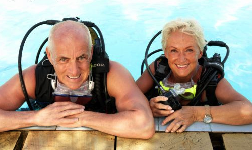 Seniors et cours de plongée NEMO33